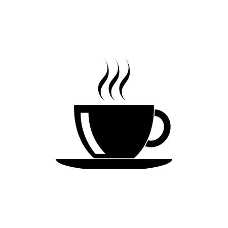 hot: Black coffee cup icon
