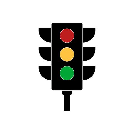 stop and go light: Traffic light signal. Traffic light vector icon