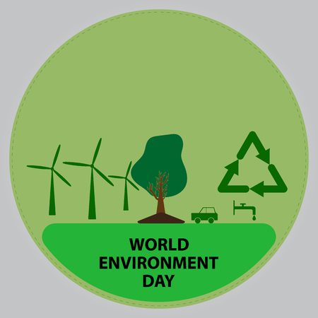 Vector illustration of a World Environment Day. Illustration