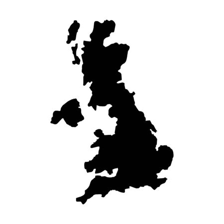 eire: flat design great britain map silhouette icon vector illustration