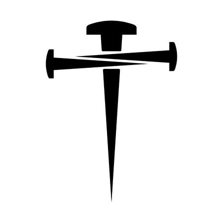 Krzyż z gwoździ Ilustracje wektorowe