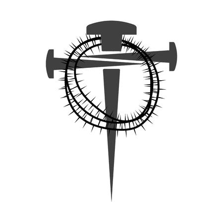 Cross of nails Imagens - 79162962