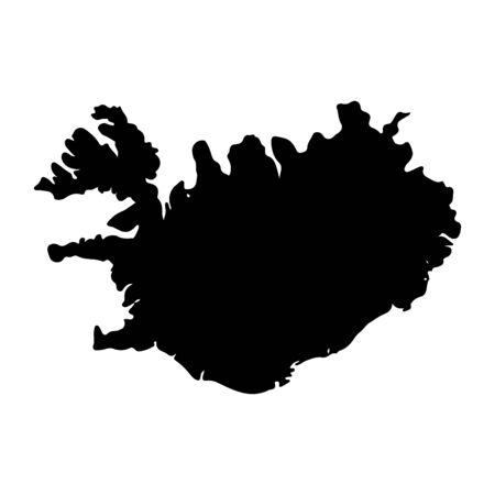 northwestern: High detailed vector map - Iceland on white background