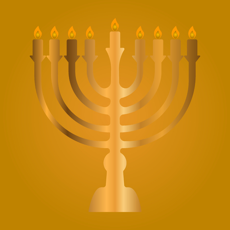 Colored background traditional elements for hanukkah celebrations Stock Photo