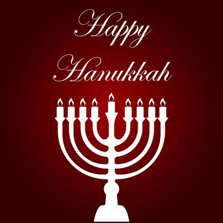 background with text and traditional elements for hanukkah celebrations