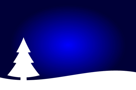 Dark blue and white Christmas trees landscape background, spruce forest silhouette. 일러스트