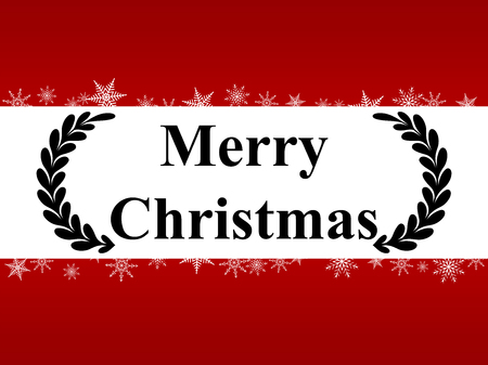 Christmas Greeting Card. Merry Christmas lettering, vector illustration 일러스트