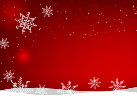 Christmas and New Year vector background with snowflakes and stars 스톡 콘텐츠