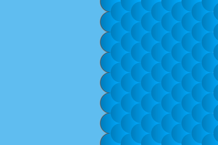 background of fish scales on a blue background
