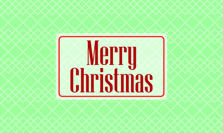 christmas card on green background 일러스트