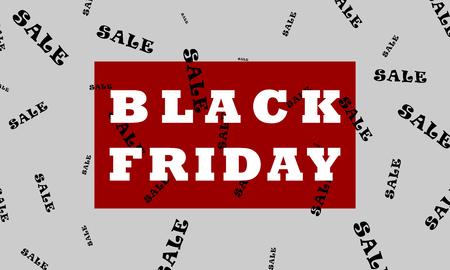 Restrained elegance banner for sales on Black Friday. 일러스트