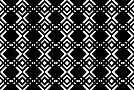Abstract geometric pattern with lines. White and black ornament. A seamless background 일러스트