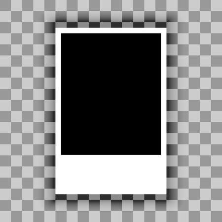 Blank of paper sheet on transparent background. Vector Illustration