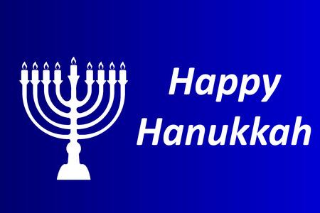 Hanukkah Typographic Vector Design - Happy Hanukkah.