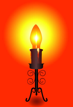 The fixture in the form of a bulb-candle on a graceful support Vector