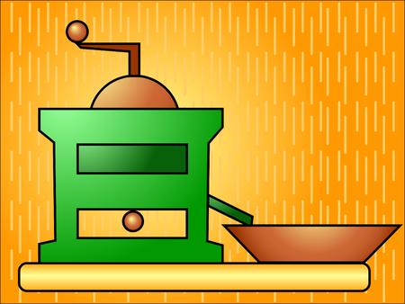 macinino caffè: Retr� un macinino con un plateau