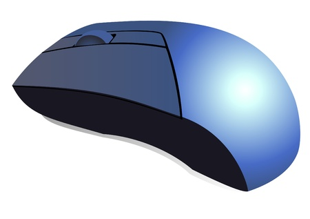 Wireless mouse on a white backgroun with a shadow Vector