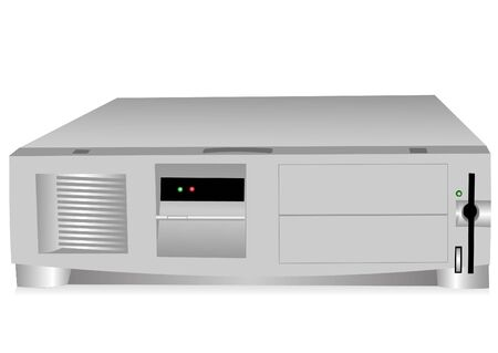 pc case: Illustration of the computer case on a white background Illustration