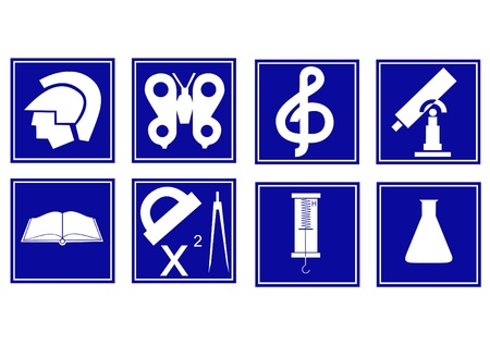Character set of various educational disciplines for school Stock Vector - 9233405