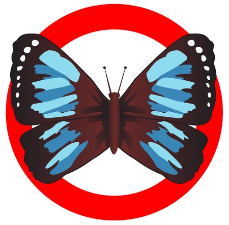 feeler: Emblem of the butterfly in a red circle