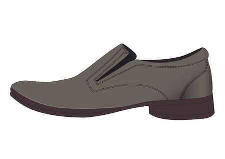Illustration of one shoe on a white background Vector