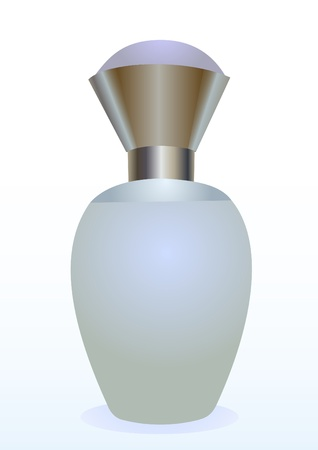 Illustration of a small bottle of a perfume for women Vector