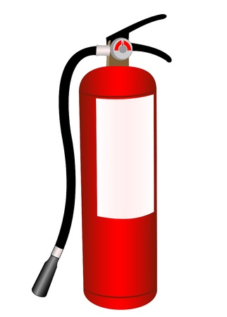 Fire extinguisher illustration on a white background  イラスト・ベクター素材
