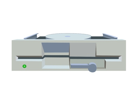 dataset: Illustration of old 5.25 inches floppy a drive