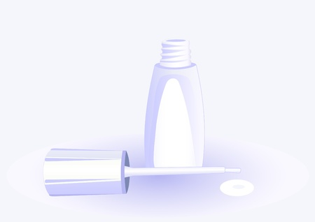 Illustration of the small bottle of white nail polish