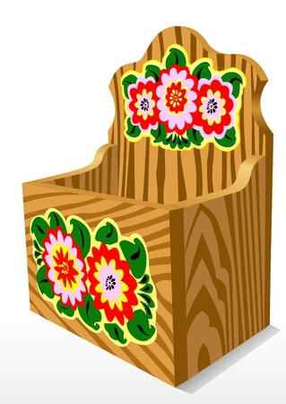 casket: Illustration of a wooden casket with a pattern