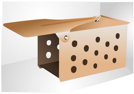 exterminate: Ilustraci�n de una ratonera metal abierto vac�a