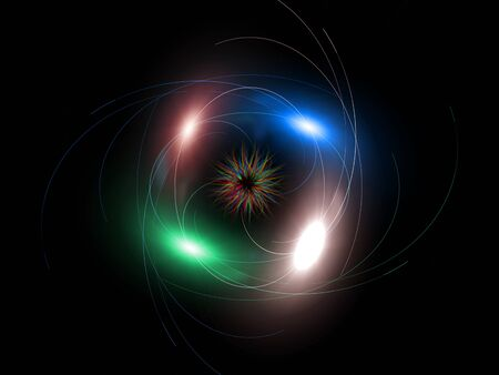Abstract illustration of magic beams with an unusual star in the center Stock Illustration - 10287505