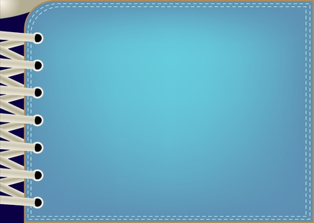 lacing sneakers: Illustration of a blue background with lacing