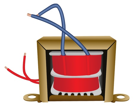 Illustration of an electric transformer on a white background Illustration