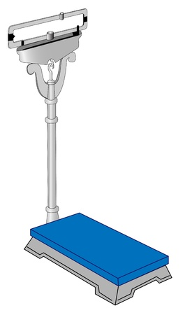 Illustration of vertical medical scales on a white background