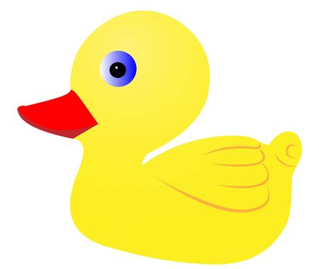 Illustration of a yellow duckling on a white background Stock Vector - 14454486