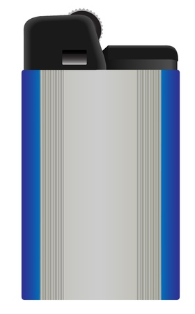 gas lighter: Illustration of a gas lighter on a white background