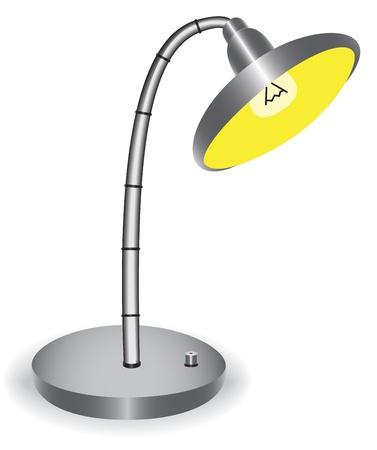 telescopic: Ilustraci�n l�mpara de escritorio telesc�pica sobre un fondo blanco