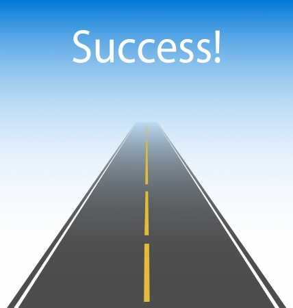 Symbolic illustration of the road to success Stock Vector - 18089011