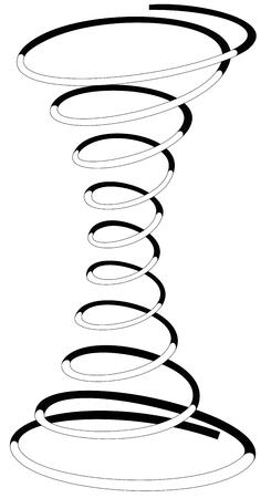 Illustrazione di una molla a spirale su uno sfondo bianco Archivio Fotografico - 24018945