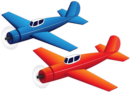 smal: Illustration of toy planes on a white background