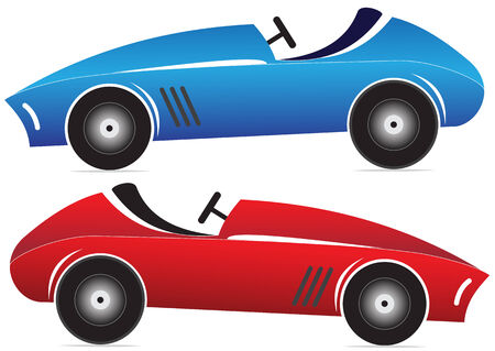Illustration of of toy racing car on a white background Vector