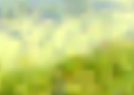 Illustration blurred abstract background of green yellow and blue colors Illustration