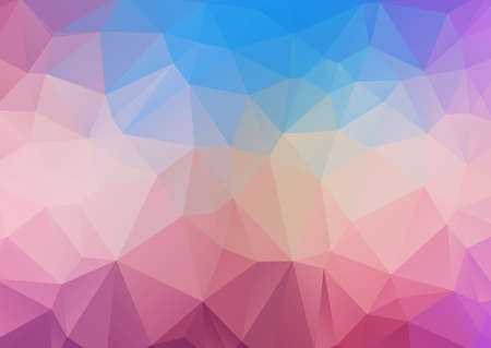 Illustration background of polygonal triangles of pink and blue tones