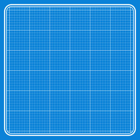 workpiece: Illustration of grid and squares on a blue background