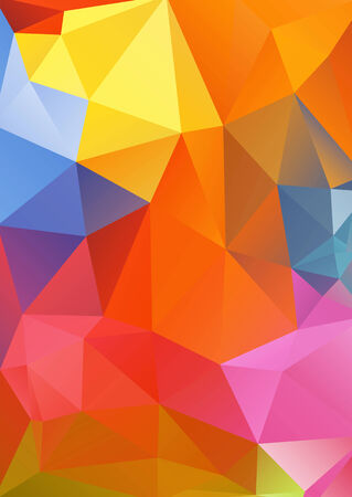 vertices: Illustration of abstract polygonal background in bright colors Illustration