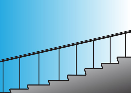 figurative: Illustration of a simple figurative stairs rising up