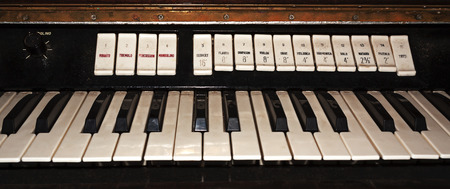 keyboard instrument: Part of the old electronic keyboard instrument