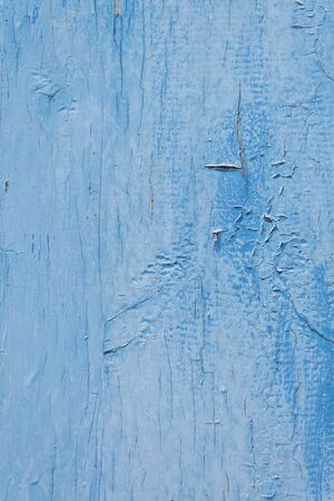 Texture chapped board painted with blue paint Stock Photo