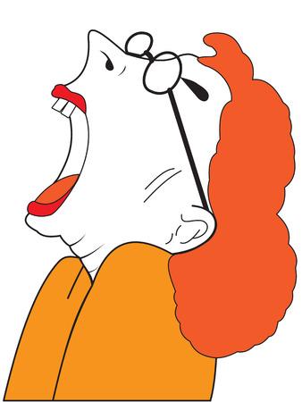 boca abierta: Ilustración de la mujer con la boca abierta Vectores